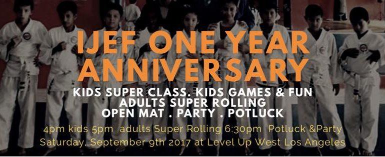The International Jiu-Jitsu Education Fund One Year Anniversary
