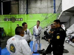 Guatemala Police explain training to IJEF