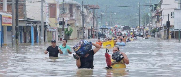 Flooding Portoviejo Ecuador